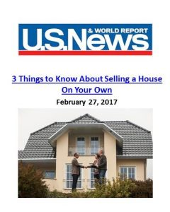 U.S. News & World Report_3 Things to Know About Selling a House On Your Own