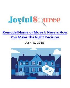 Joyful Source_Remodel Home or Move