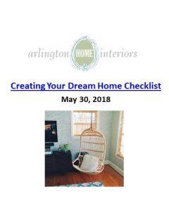 Arlington Home Interiors_Creating Your Dream Home Checklist